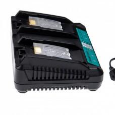 Cargador doble que incluye cable de alimentación para baterías Li-Ion 14.4 / 18V de Makita