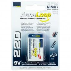AccuPower AccuLoop AL220-2 9 voltios Ready2Use batería de NiMH