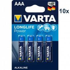 Varta 4903 batería de alta energía AAA / Micro 10x 4-Pack
