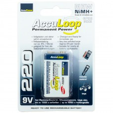 AccuPower AccuLoop AL220-2 9 voltni Ready2Use NiMH baterije
