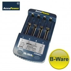 B-PRODUCT: AccuPower Li-Ion / Ni-MH / Ni-Cd lader IQ328 + display / ontladingsfunctie